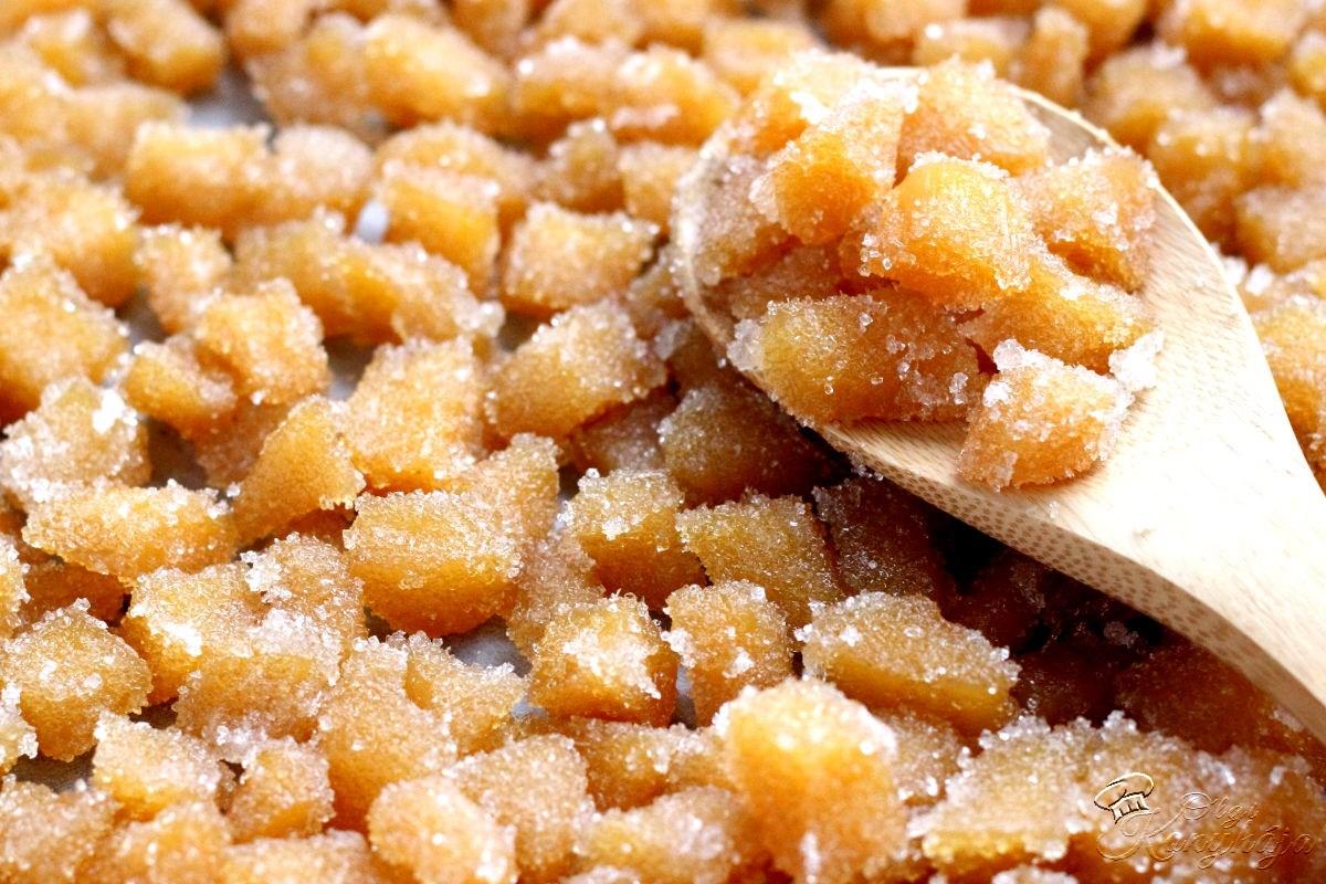 Kandírozott gyömbér cukrozva