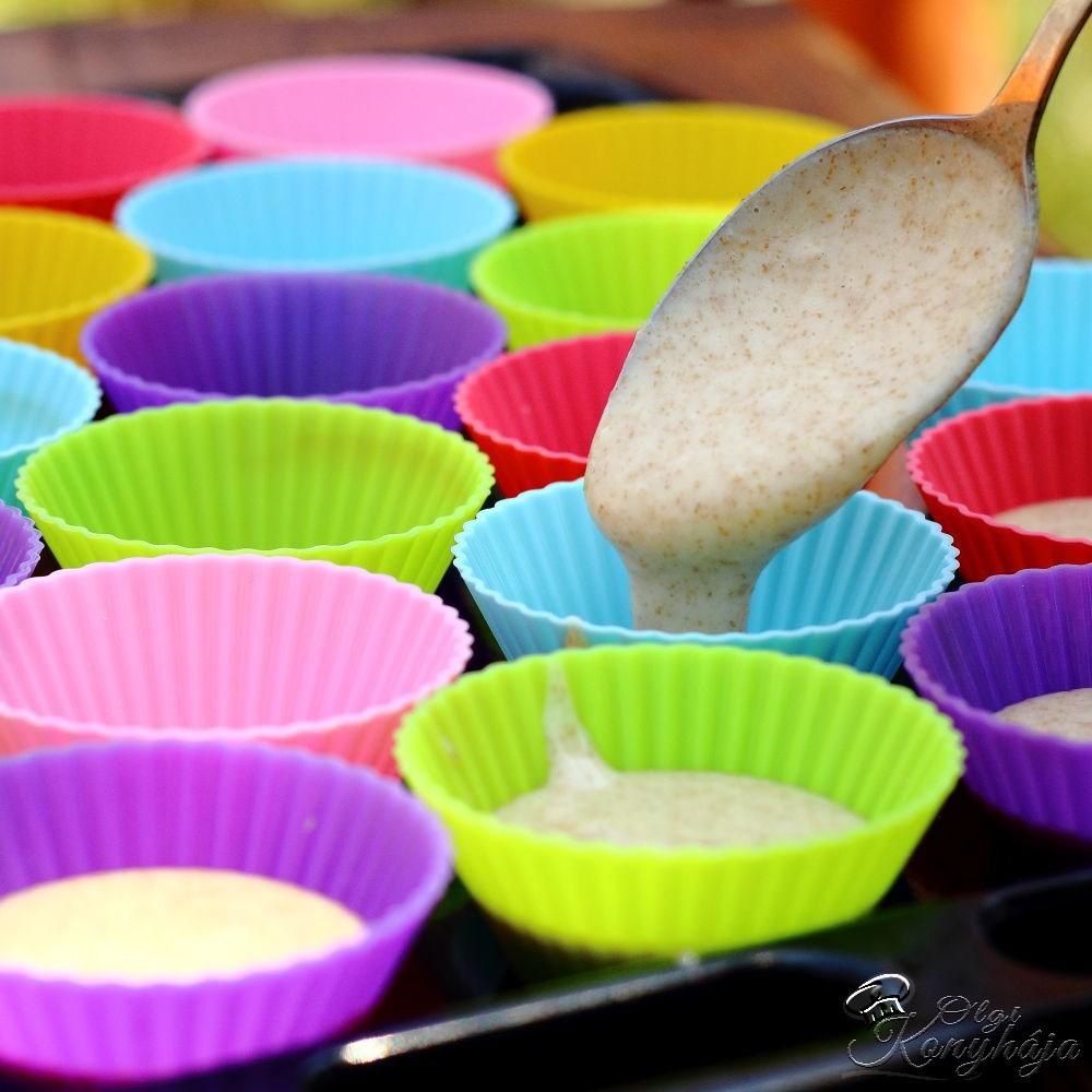 Muffin alaprecept formába öntés