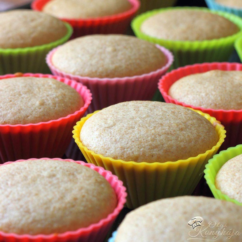 Muffin alaprecept készre sütve