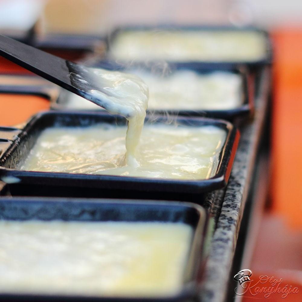 Raclette sajt sütés